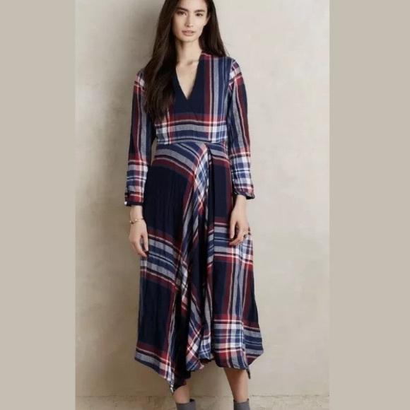 Anthropologie Dresses & Skirts - Anthropologie Sylvan Plaid Dress S
